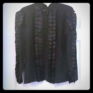 Vintage silk ruffle blouse